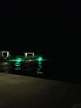 Lighthouse Inn at Aransas Bay: View of the fishing pier at nigh
