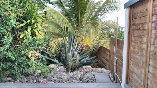 Le Moule, Guadeloupe: Douche extérieur