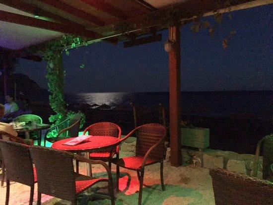 Sougia, Hellas: full moon on the Libian sea