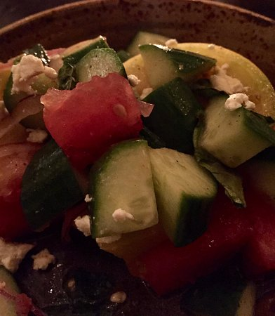 Watertown, MA: Watermelon, cucumber and feta salad
