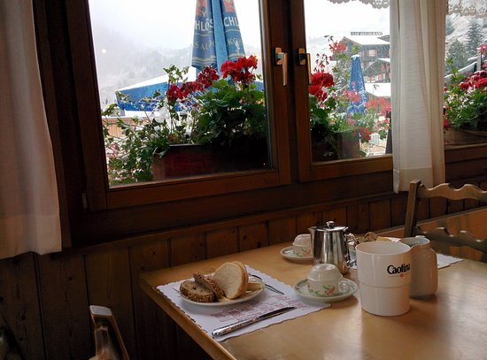 Riederalp, İsviçre: Breakfast table