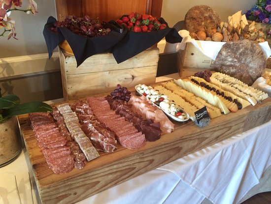 Balboa Bay Resort: Sunday Brunch at Waterline. Charcuterie, fruit, and breads.