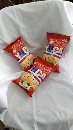 Sarapiqui, Costa Rica: Yuca chips Mi Cafecito