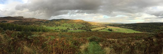 Callander, UK: View from the top at samsons stone