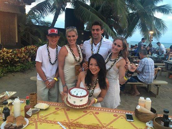 Kapolei, HI: Our Germaine's Luau birthday celebration