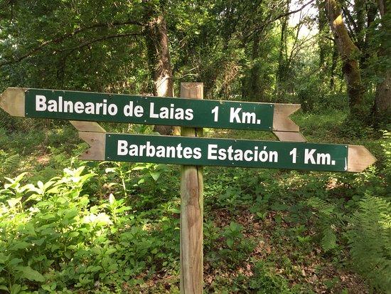 Laias, España: Sendero entre el Balneario y la Estación FFCC de Barbantes.