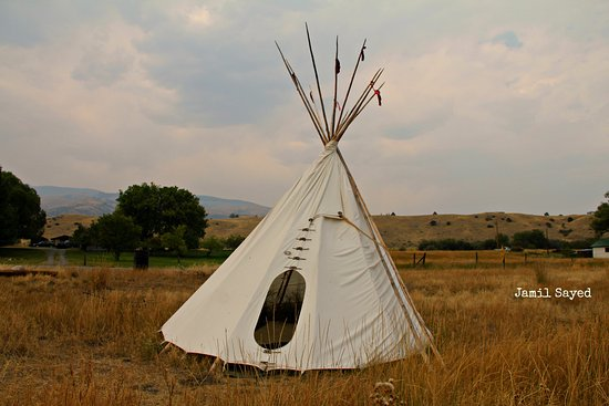 Emigrant, MT: nearby Tipi (Red Indian Tent)