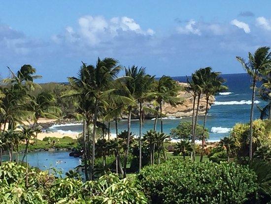 Grand Hyatt Kauai Resort & Spa: Beach & Grounds view from my room