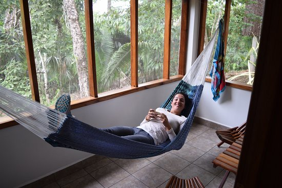 San Antonio, Belize: Private porch with hammock to listen to jungle