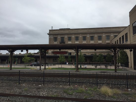 Utica Union Train Station-Main Hall and Rails
