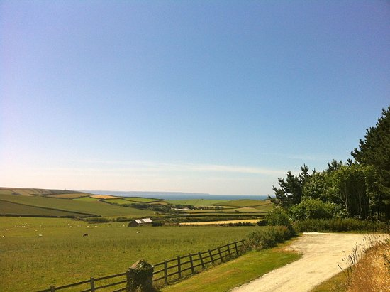 Braunton, UK: View from driveway down to sea