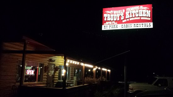 Trudy's Kitchen RV & Cabin: Look for this sign when travelling at night.