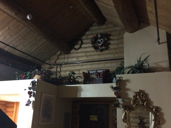 Mt. Charleston Lodge: Decorations above the door.