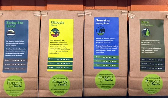 Menomonee Falls, Wisconsin: Come try our coffee and take some home.  We will grind  it for your coffeemaker.