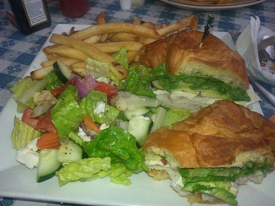 Auburn, CA: Turkey Croissant Sandwich - SO fresh and delicious!