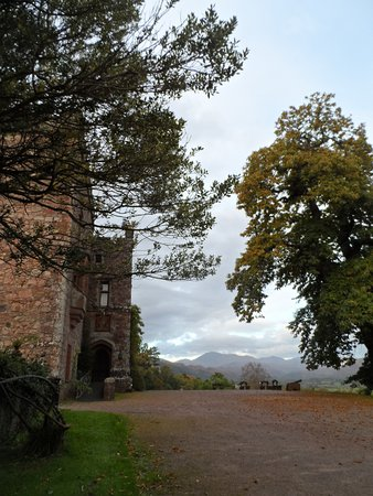 Ravenglass, UK: Main entrance with Scafell Pike behind...!