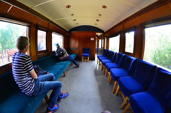 Blaenavon, UK: Inside one of the carriages.