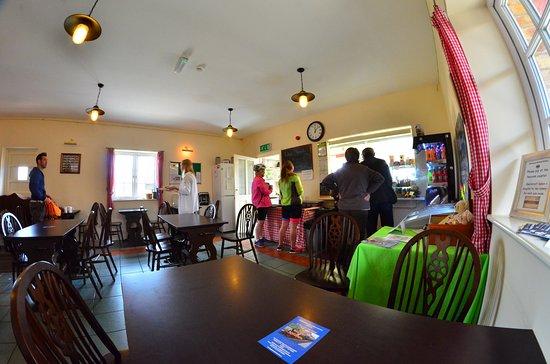 Blaenavon, UK: Inside the station cafe.