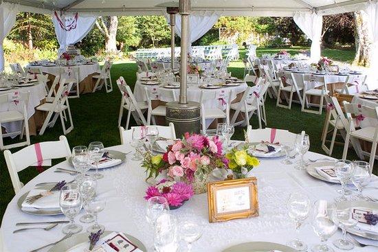 Sagle, ID: Wedding tent