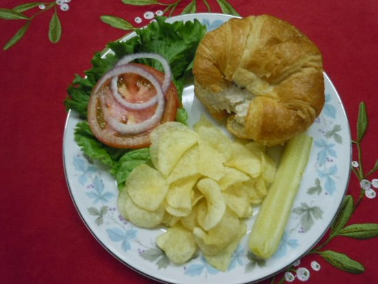 Eufaula, OK: Chicken Salad Sandwich on Croissant, Chips & Pickle!