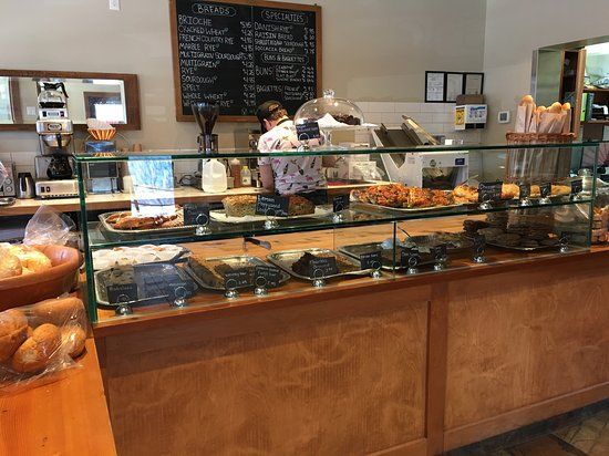 A view inside the bakery picture of stella 39 s cafe for Stellas fish cafe menu