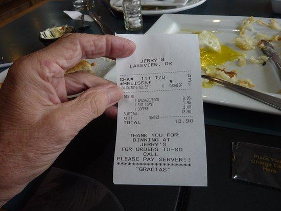 Lakeview, Oregón: final bill