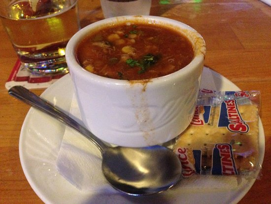 Barefoot Bernie's Bar & Grille: cup of Maryland Crab Soup