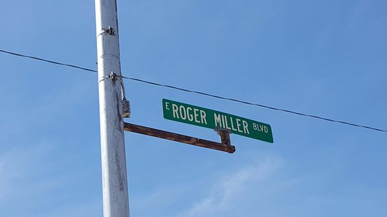 The Roger Miller Museum: street sign