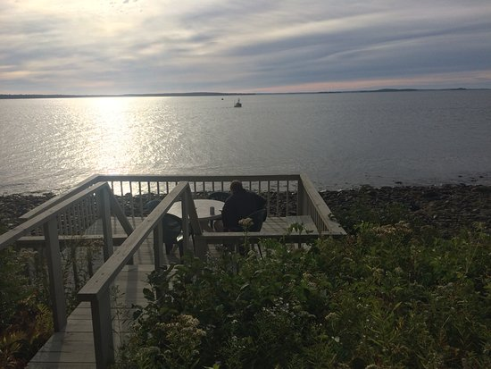Lincolnville, ME: Our private deck, overlooking the ocean