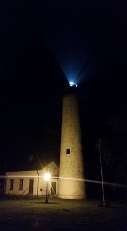 Port Hope, MI: Pointe aux Barques Lighthouse at night