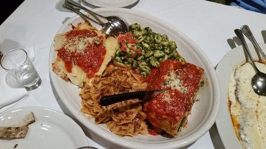 Huge Plates Of Italian Food New York