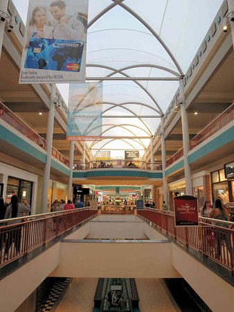 The Atrium in the center of the mall Picture of Destiny USA