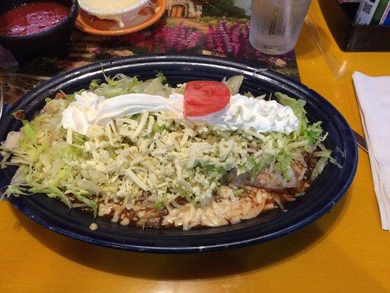 Bridgeport, WV: Burrito with fresh toppings