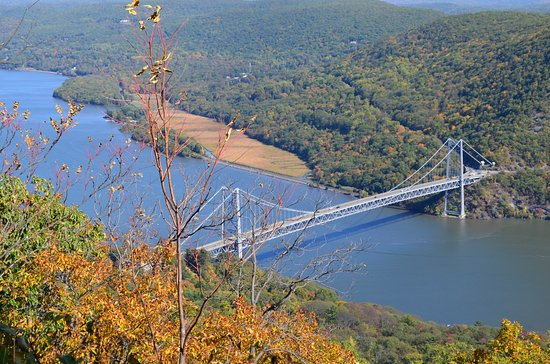 Bear Mountain Bridge over the Hudson, as seen from Bear Mountain