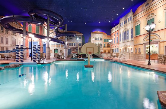Venetian Indoor Waterpark: With fast slides and a concession area, we're a great place to have a birthday party.