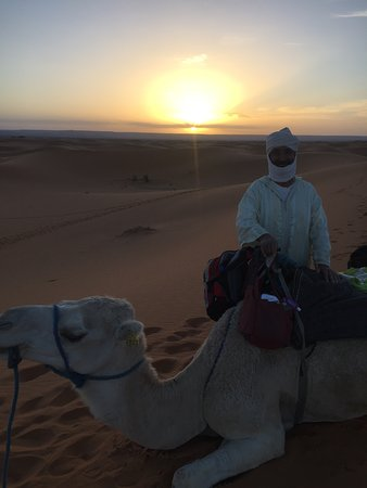 Marrakech-Tensift-El Haouz Region, Morocco: Stunning sunrise on Sahara Desert