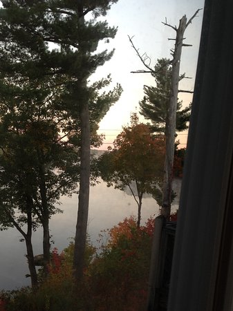 Milford, ME: View from balcony.