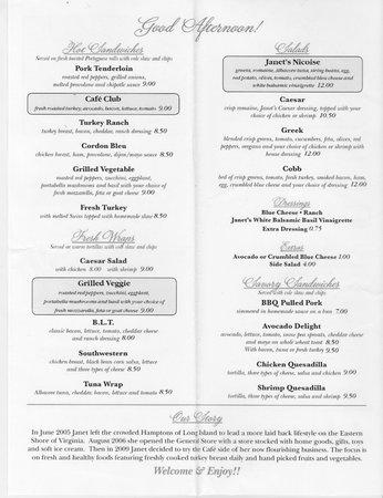 Onancock, VA: Menu-Page 2