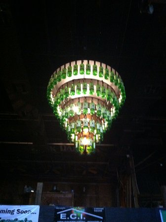 Irish Kevin\'s recycles. Those are emptied whiskey bottles they ...