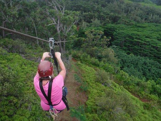 Koloa, Hawaï: A long way down