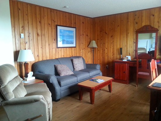 The Cedarwood Inn and Suites: Living area, mactac covered everything