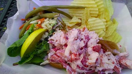 The Lobster Shack: The lobster roll - so yummy and full of overstuffed seafood goodness
