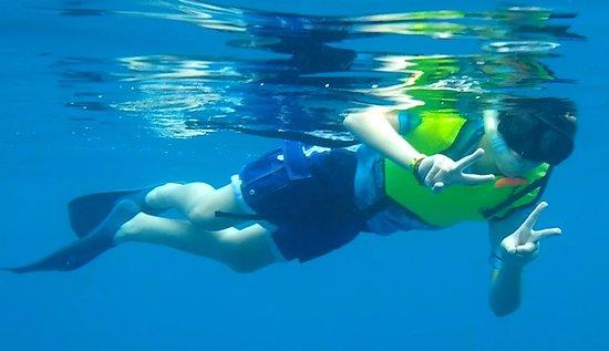Kapolei, HI: My son getting his snorkel on