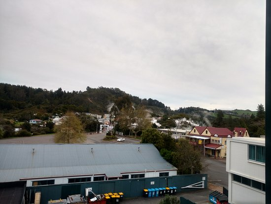 Holiday Inn Rotorua: Steam in the distance - view from my room