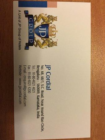 JP Cordial: Visiting Card!