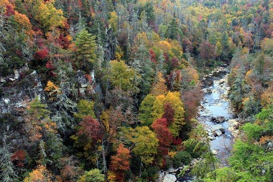 Linville Falls, Karolina Północna: Chimney View Overlook Trail