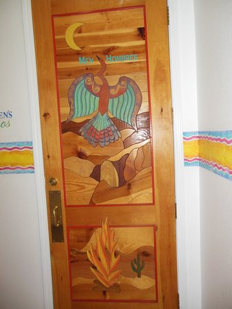 Bullhead City, AZ: Hand carved door