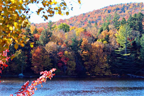 Long Lake, NY: Mountainside color