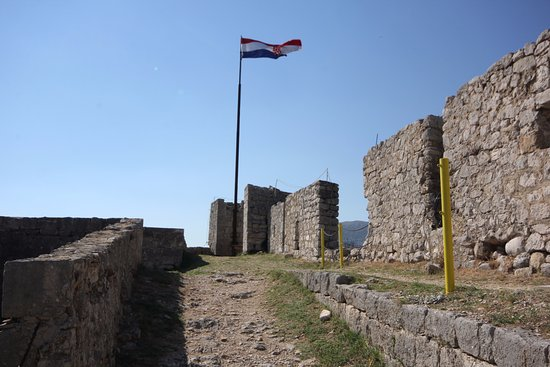 Klis, Kroasia: The flag in the fortress