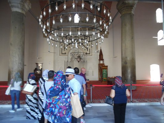 Odeon Bistro Cafe: Inside of IsaBey Masjied - oldest masjied in Turkey